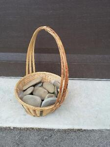 Decorative basket with stones London Ontario image 4