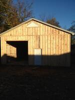 Pole barns, garage, sheds
