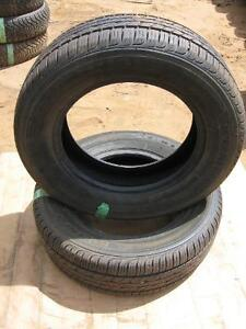 set of 2 Kumbo Solus used tires 205/65r15 reference  Aaa17
