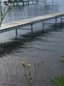 100' Aluminum Dock Pier with Wood deck and Stands