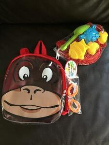 New! Kids beach pals backpack set