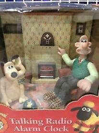 Rare Wallace & Gromit Talking radio Alarm clock