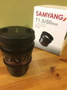 Samyang T 1.5 50mm Cine lens for Micro Four Thirds