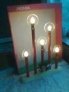 9--Vintage 5 Light Candolier Window Candles-- in original boxes