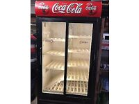 Coca-cola commercial drink display double fridge for catering