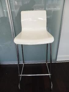 1 IKEA White Bar Stool