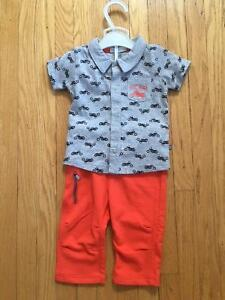 Petit Lem- Boys 3 Month Cool Rider Motorcycle Outfit- NWT