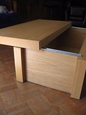 Ikea Malm Oak Storage Box Chest Ideal As Coffee Side