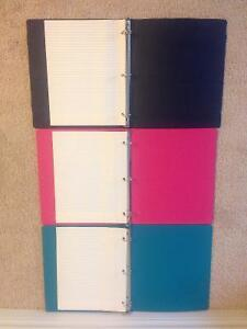 "3 1"" Binders with Bonus Lined Paper Kitchener / Waterloo Kitchener Area image 1"