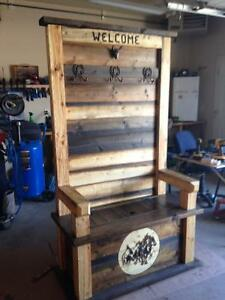 Homemade rustic bench