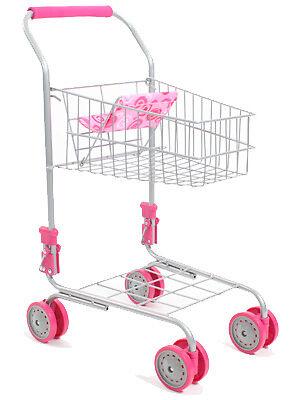 Bayer Chic 2000 Supermarkt Einkaufswagen Rosa Kinder Kindereinkaufswagen NEU