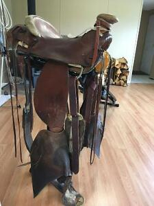 Authentic Buckaroo Wade Tree Saddle 16""