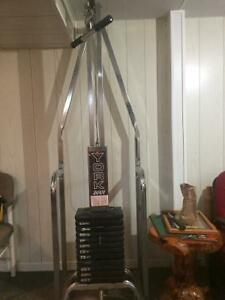 York 2001 home gym cable system
