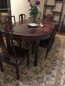 Rosewood Dining Table Suite