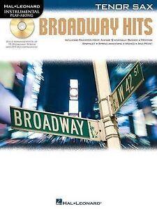 Instrumental PlayAlong: Broadway Hits for Tenor Sax (Book & CD) (Hal Leonard Ins