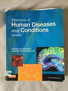 Essenials of Human Diseases and Conditions 5th edition for sale.