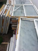 Low E Argon sealed dual pain windows in pvc frames