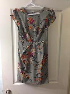 Floral fitted sheath dress for sale