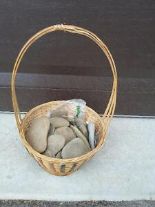 Decorative basket with stones London Ontario image 3
