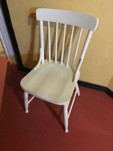 White antique chair