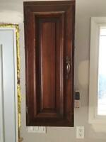 Solid pine cabinets used 17pc. $100