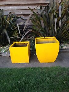 Yellow pots x 2 Mitchell Park Ballarat City Preview