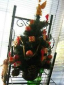 Tabletop CHRISTMAS Tree-Decorated--$15.