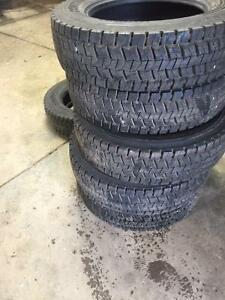 Continental 225/70/19.5 14 ply g rated tires 6 new take offs