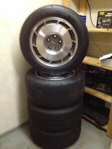 """Original set of 4 Corvette Rims with newer mounted tires 16"""""""