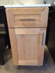 """Clearance DEMO Marked-Down SALE – 15"""" Side Cabinet VD15-1 Maple"""