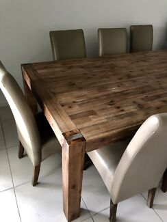 8 Chairs And Dining Table