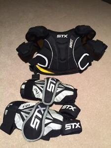 Lacrosse STX Shoulder Pads and Elbow Pads