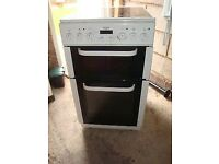 Bush 50cm double oven electric cooker