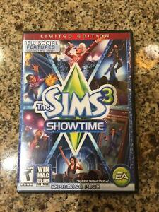 Sims 3 Showtime Limited Edition Expansion Pack+Box/Paperwork