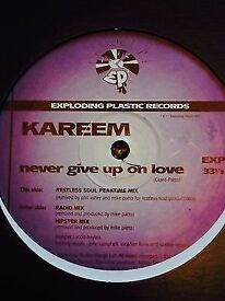 """Kareem – Never Give Up On Love - Super Rare Brit Trip Hop 12"""" 1997"""