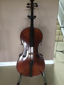 Eastman Cello, Almeida Bow, Case, and Stand