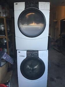 Kenmore he front load stackable washer electric dryer