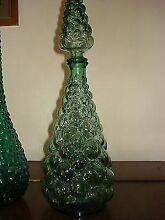 Green Art Glass Bubble Genie Bottle Torrensville West Torrens Area Preview