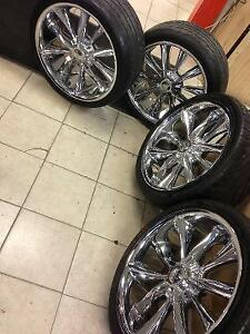 SET OF 4 RIMS & TIRES 255/35ZR20 MARSHAL MATRAC MOUNTED ON VERY
