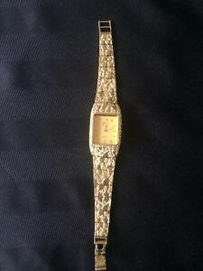 Geneve Classic 10K gold nugget style watch