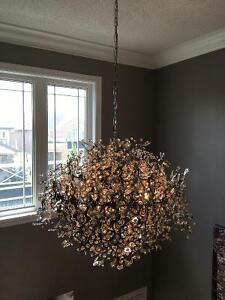 Crystal and Chrome high end chandelier