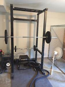 Squat rack / Olympic weights / home gym
