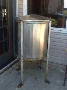 -Huge stainless container on with cover and with tap on bottom w