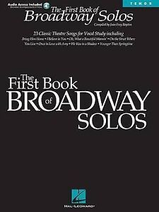 First Book of Broadway Solos: Tenor Edition by Hal Leonard Publishing...