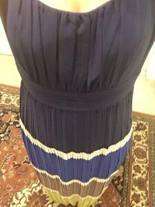 BCBG, Beautiful New Blue Navy pleated long dress Gatineau Ottawa / Gatineau Area image 2