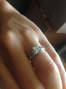 0.70 princess cut engagement ring Kingston Kingston Area image 5