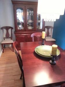 Bermex Dining Table and Hutch
