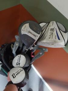 Right handed golf clubs. Complete set and extra driver.