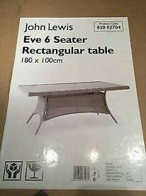 John Lewis 6seater Garden/conservatory table. RRP £699