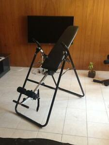 spinal decompression inversion table